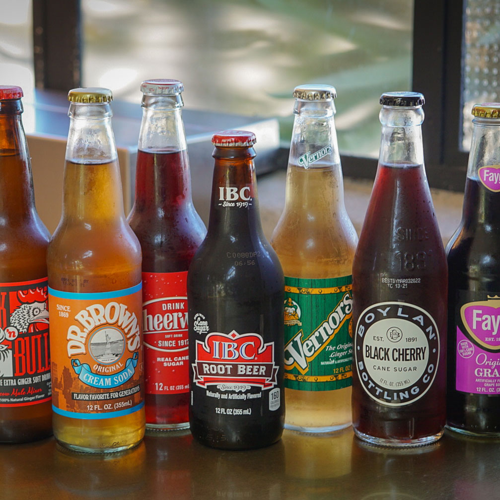 Craft Sodas By The Glass Bottle