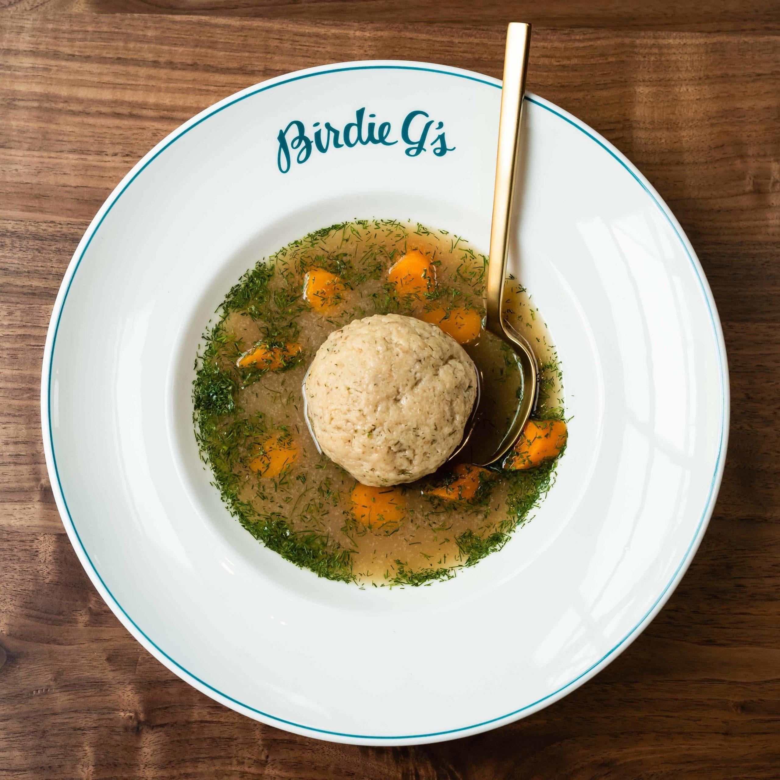 Bowl of Matzo Ball Soup