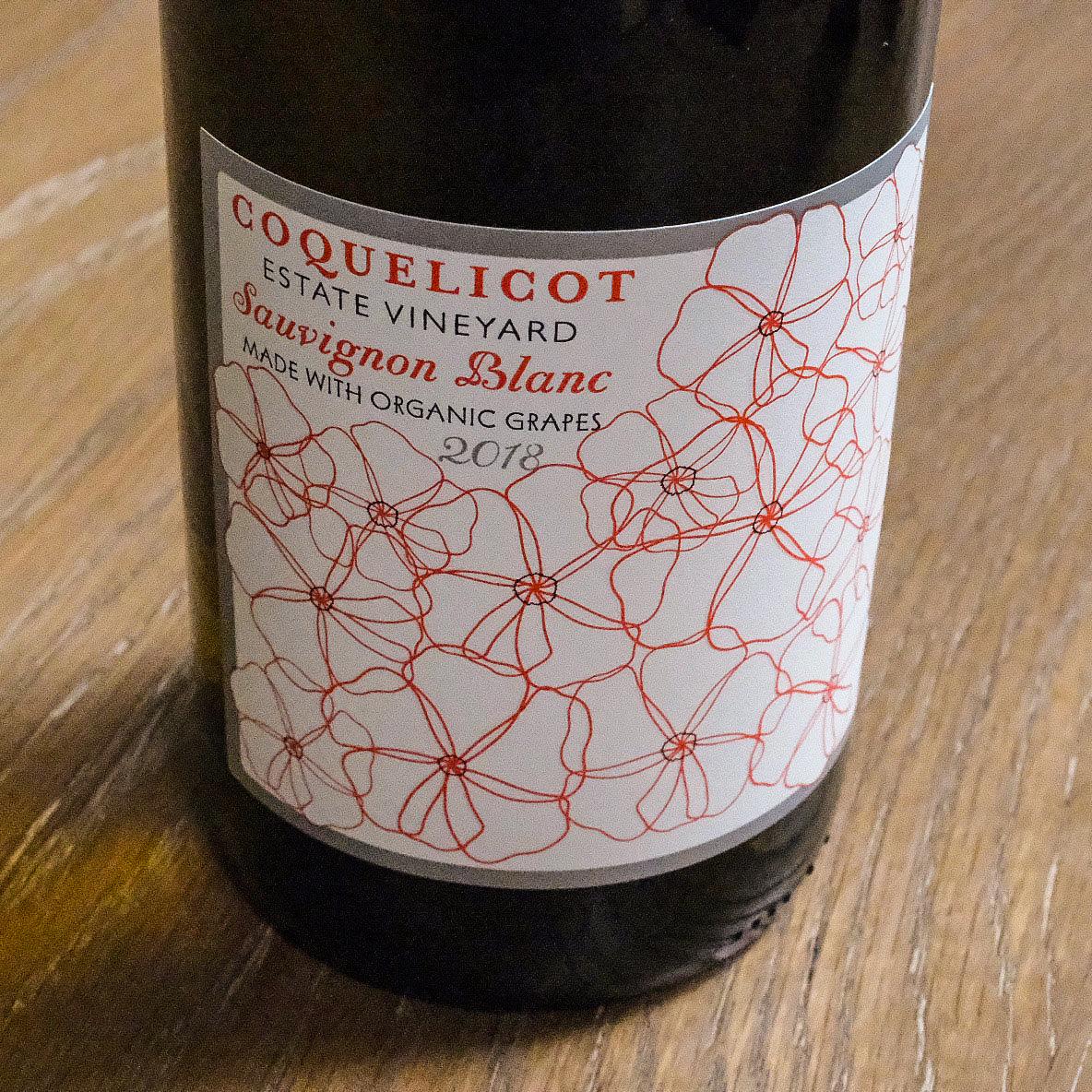 Bottle of Sauvignon Blanc - Coquelicot Estate, Santa Ynez, CA