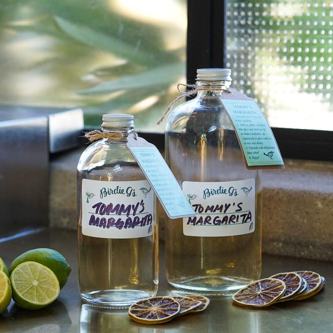 To-Go Bottles of Tommy's Margarita
